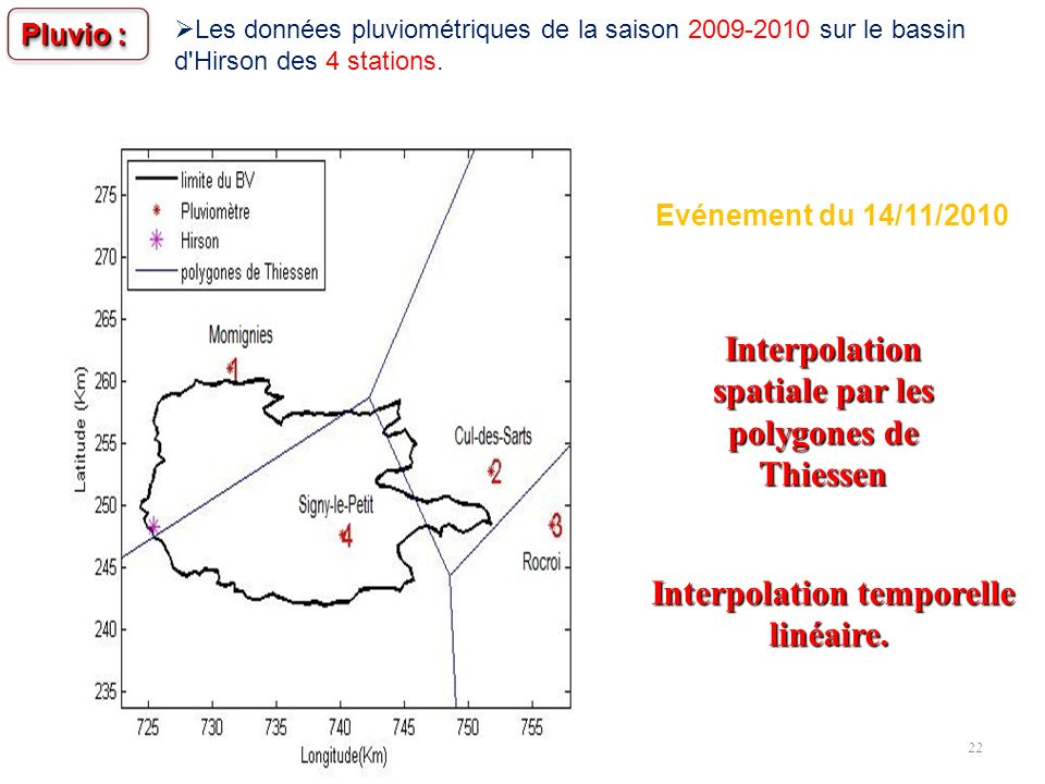 Interpolation spatiale par les polygones de Thiessen