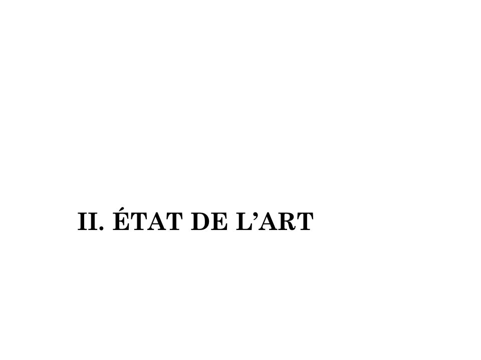II. ÉTAT DE L'ART