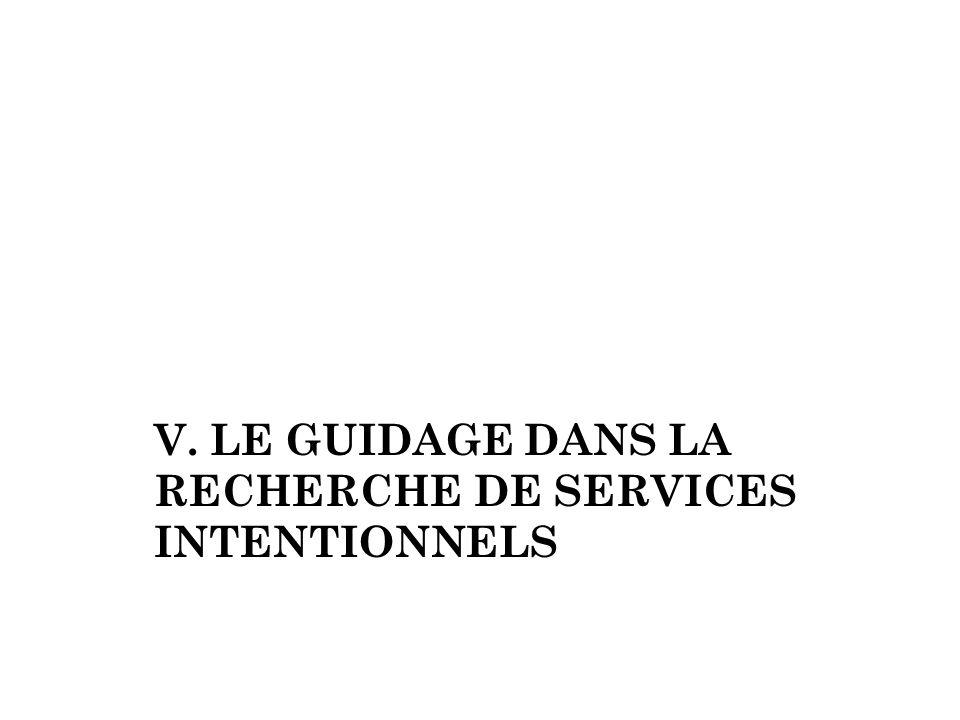 V. Le guidage dans La Recherche de services intentionnels