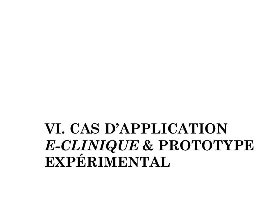 VI. Cas d'application E-clinique & prototype expérimental