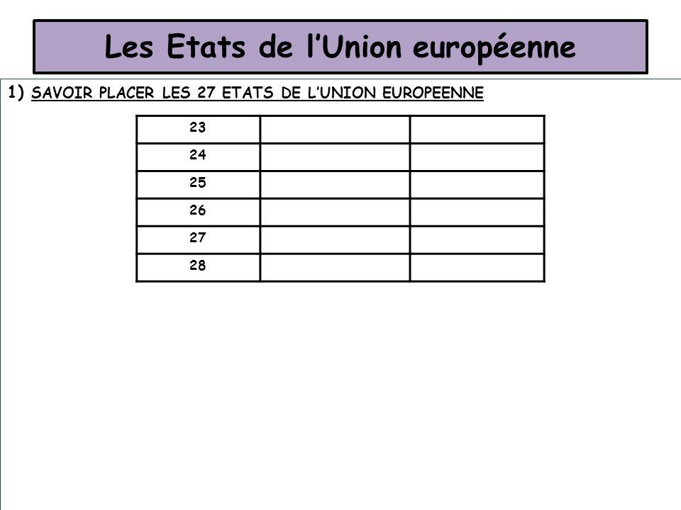 Les Etats de l'Union européenne