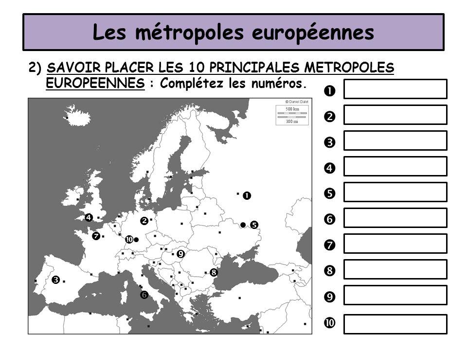 Les métropoles européennes
