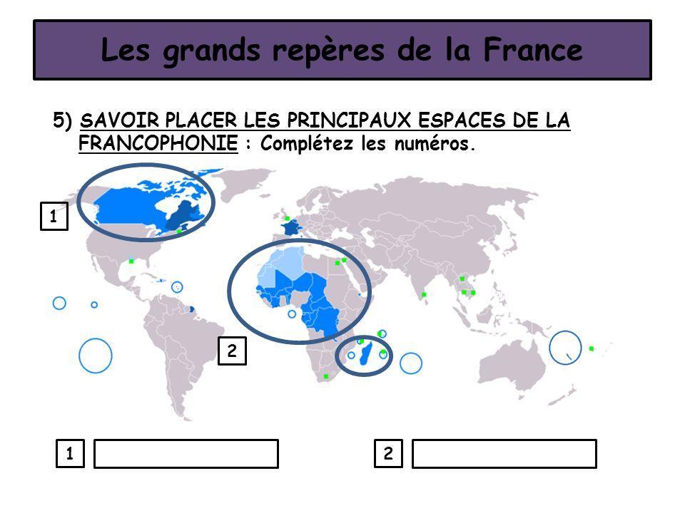 Les grands repères de la France