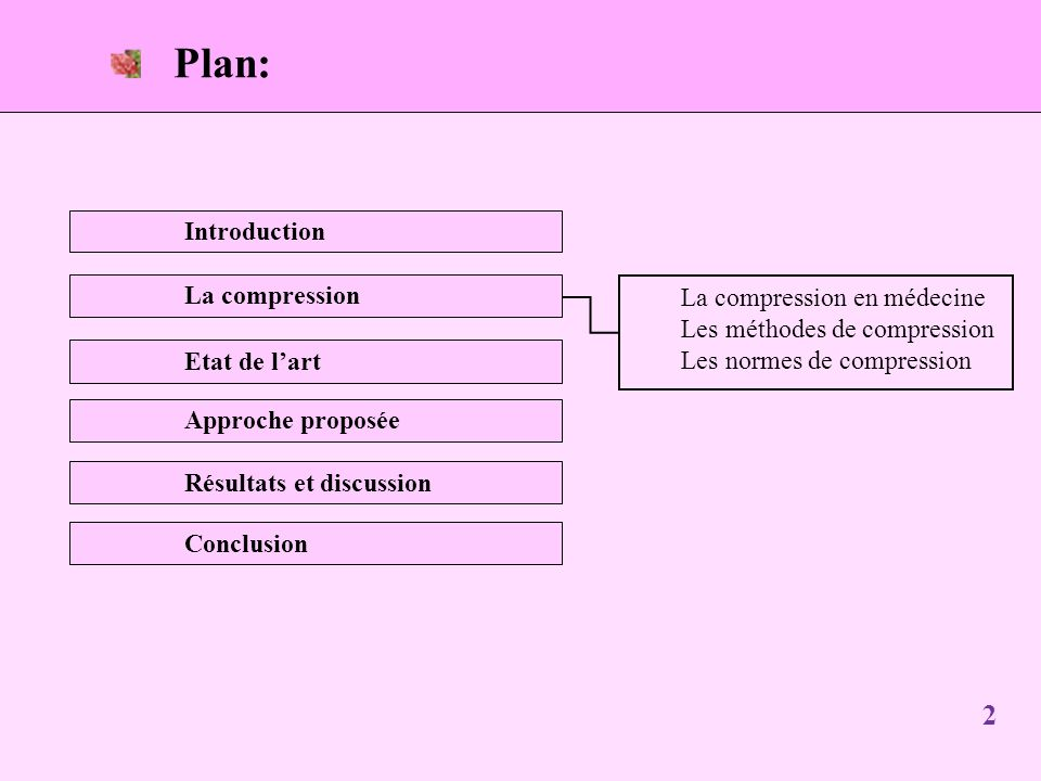 Plan: Introduction La compression La compression en médecine