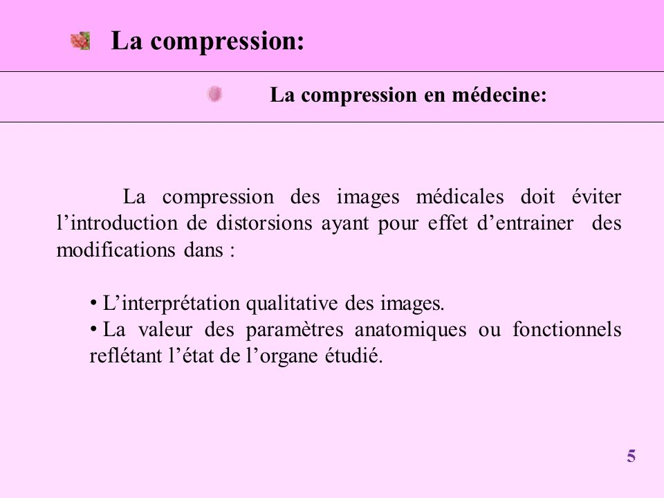 La compression en médecine: