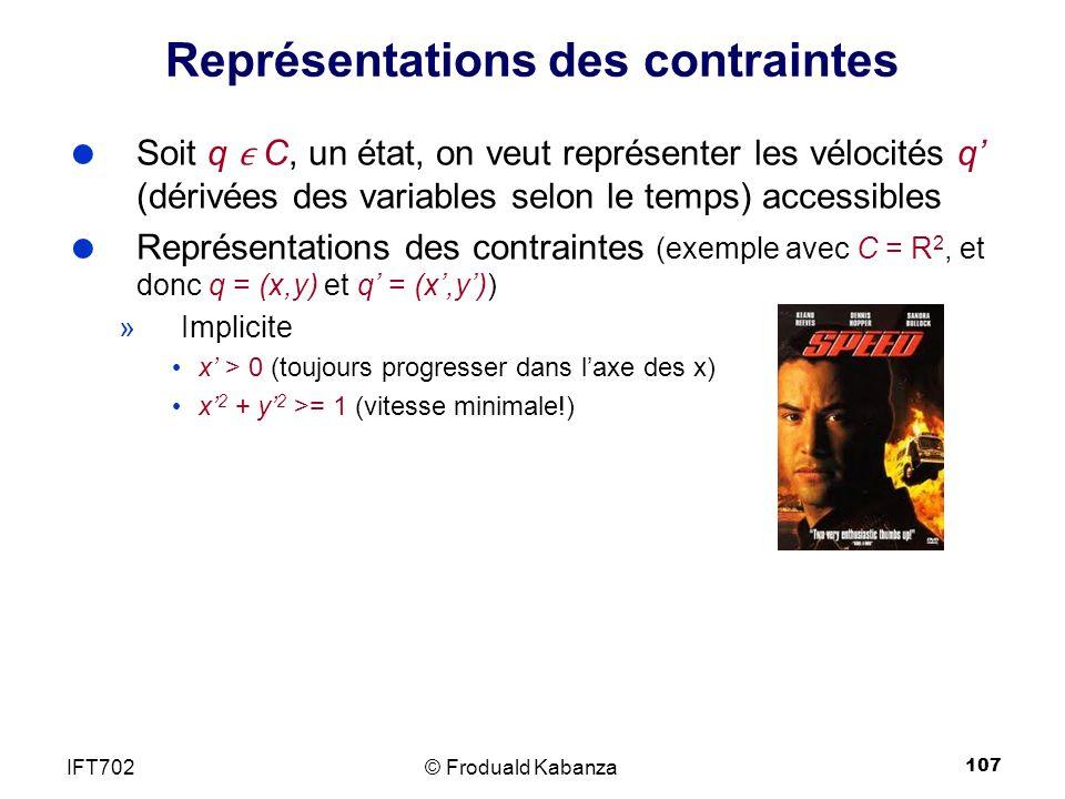 Représentations des contraintes