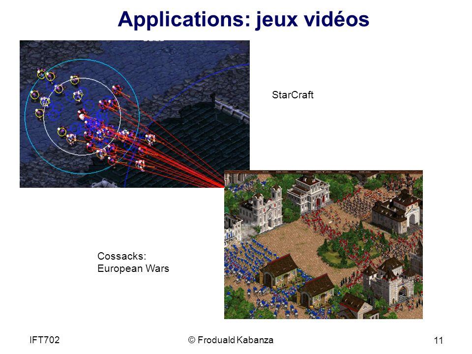 Applications: jeux vidéos
