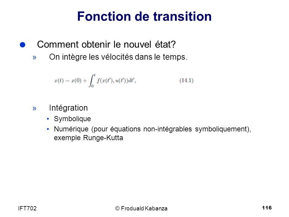 Fonction de transition