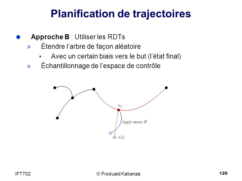 Planification de trajectoires