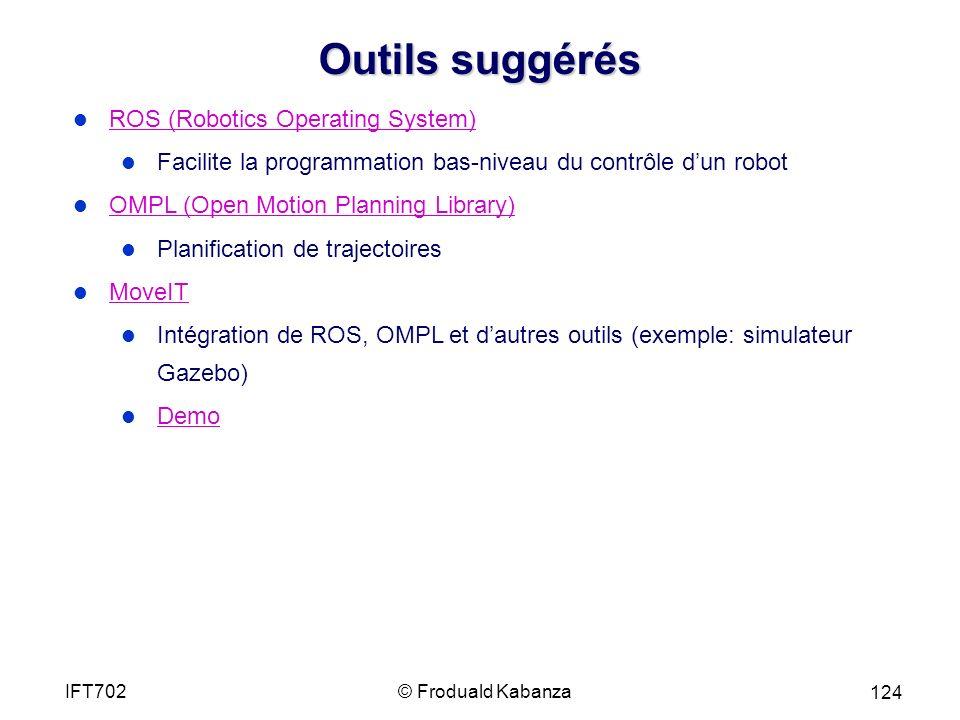 Outils suggérés ROS (Robotics Operating System)