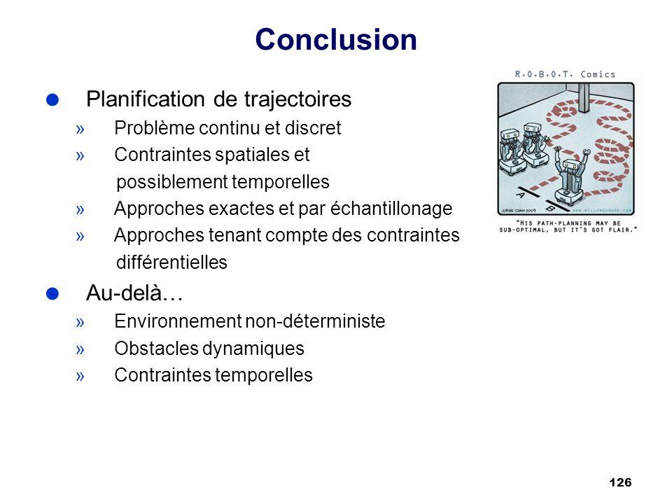 Conclusion Planification de trajectoires Au-delà…