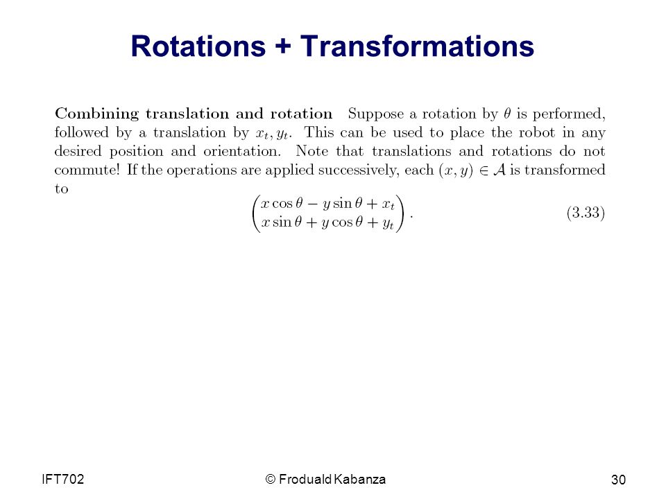 Rotations + Transformations
