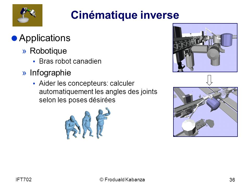 Cinématique inverse Applications Robotique Infographie