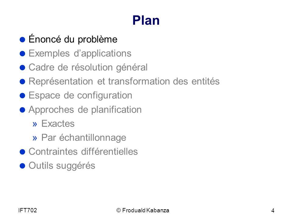Plan Énoncé du problème Exemples d'applications