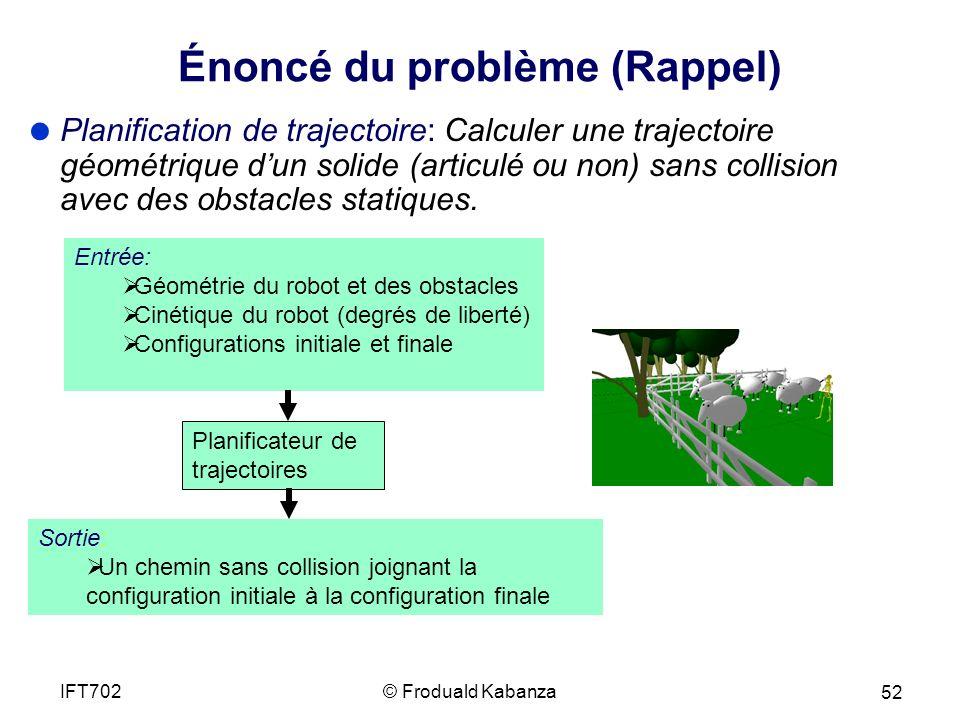 Énoncé du problème (Rappel)