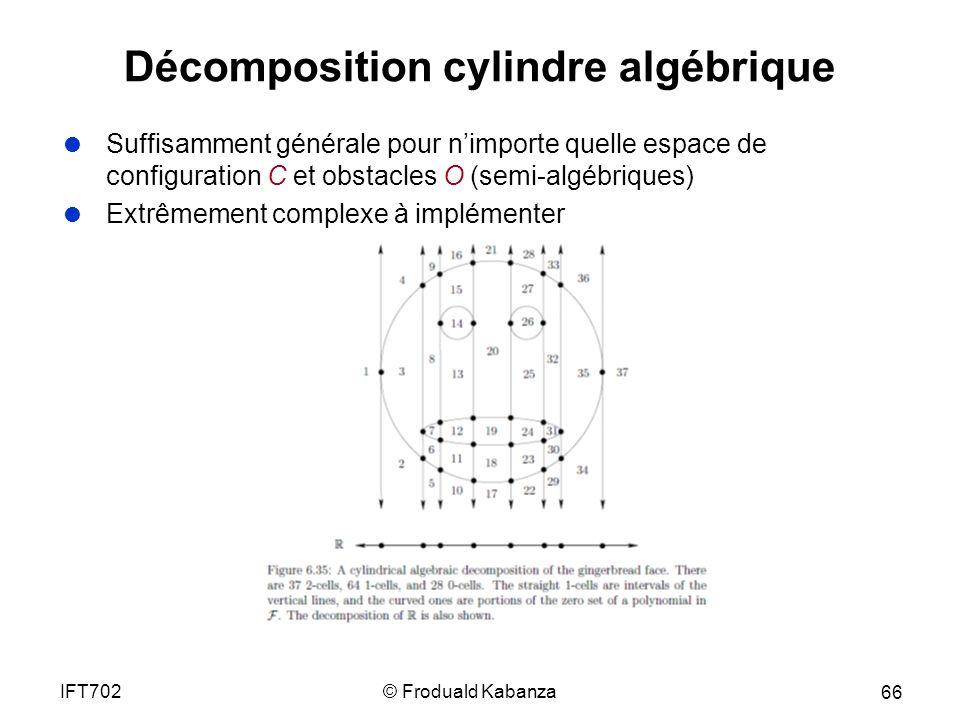 Décomposition cylindre algébrique