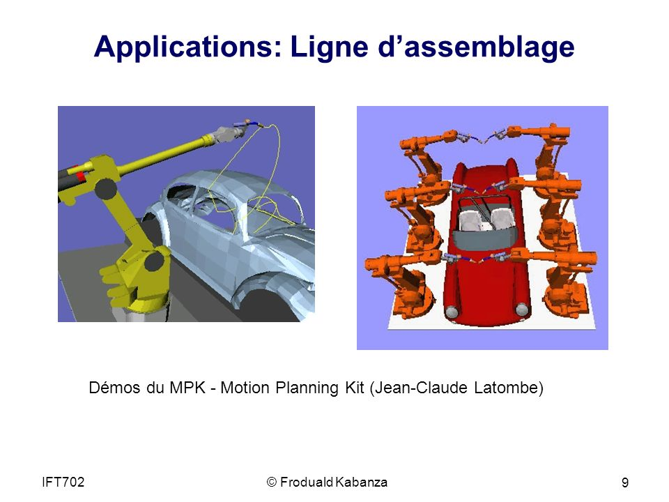 Applications: Ligne d'assemblage