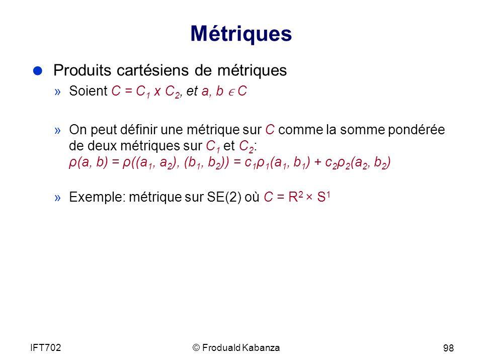 Métriques Produits cartésiens de métriques