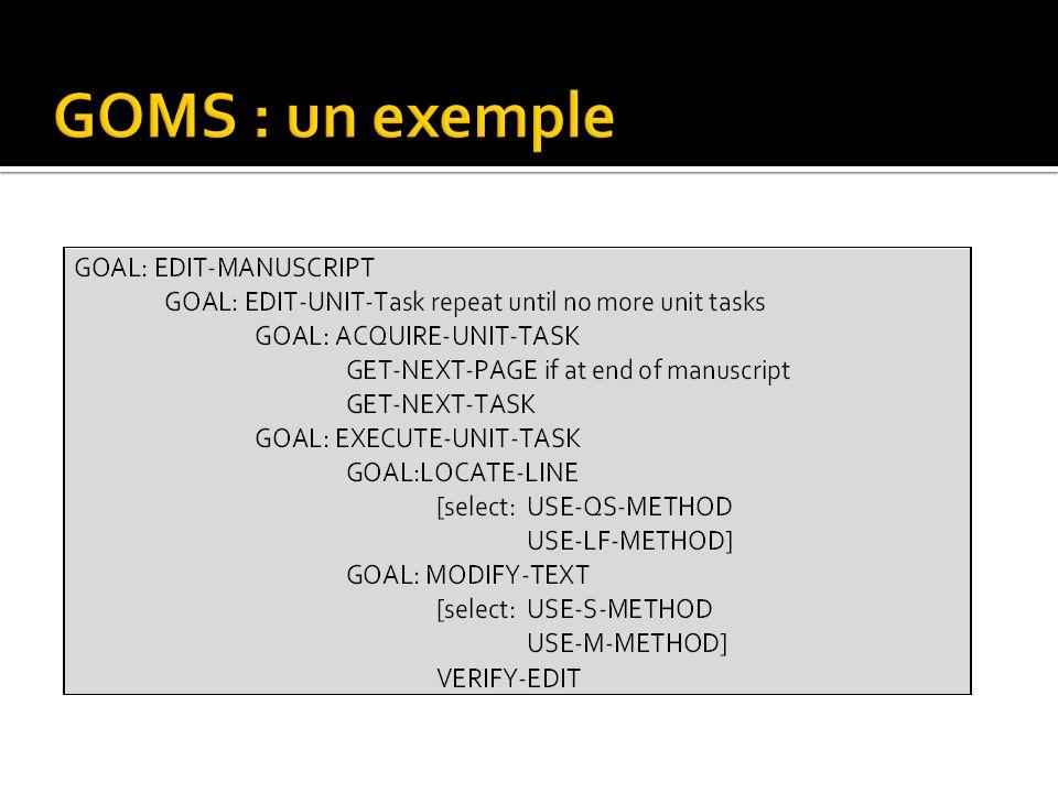 GOMS : un exemple
