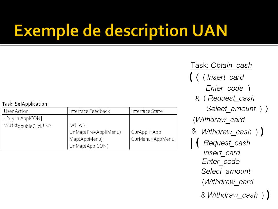 Exemple de description UAN