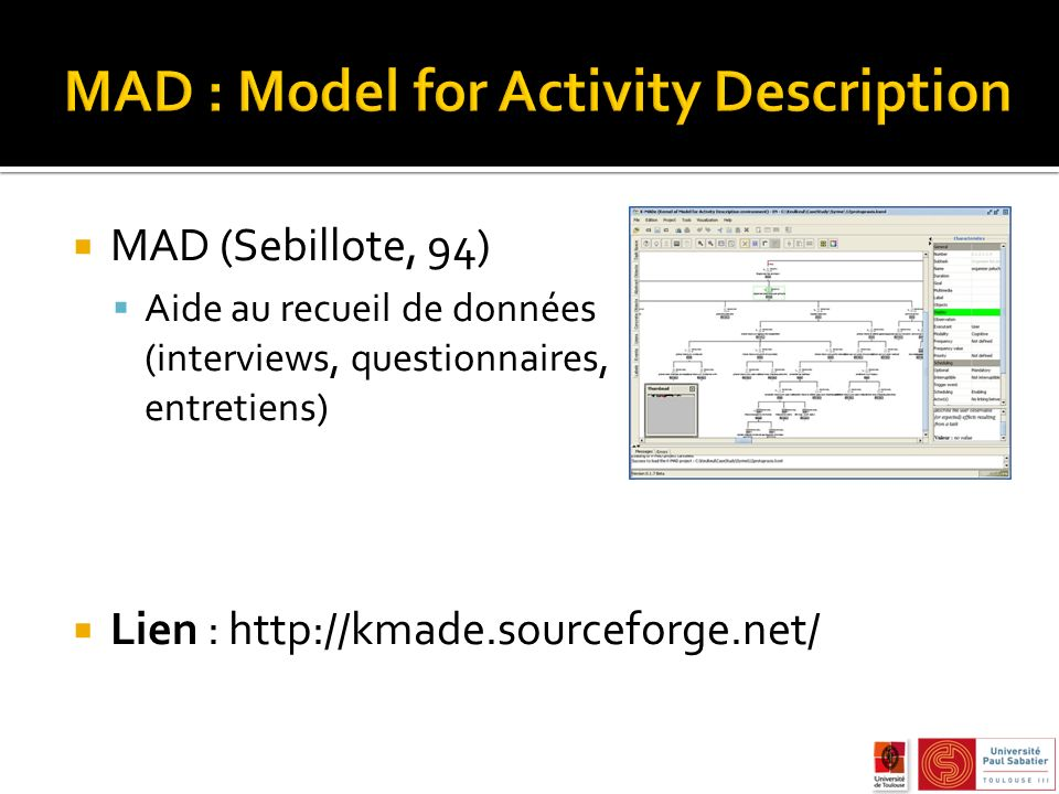 MAD : Model for Activity Description