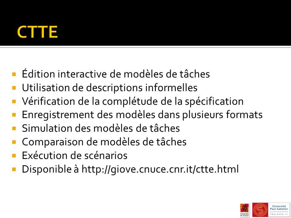 CTTE Édition interactive de modèles de tâches