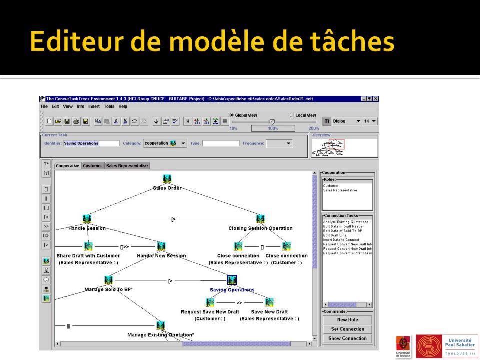 Editeur de modèle de tâches
