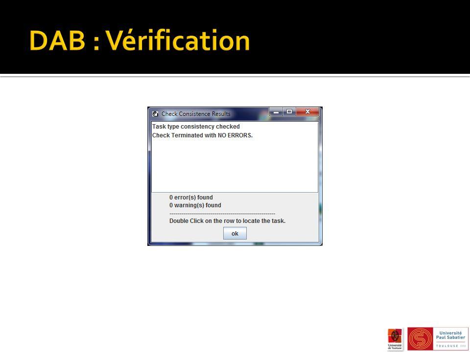DAB : Vérification