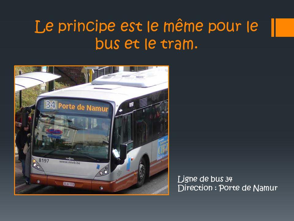 Le principe est le même pour le bus et le tram.