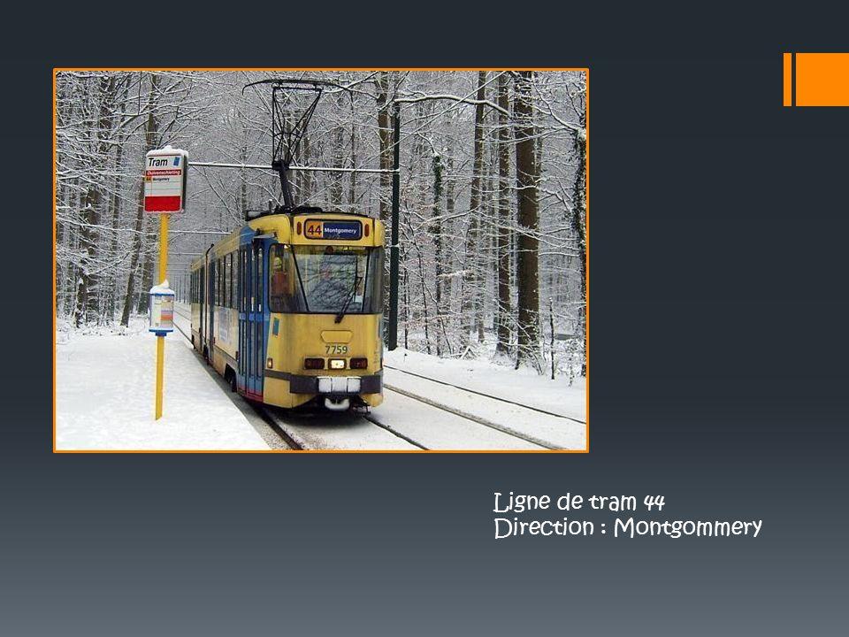 Ligne de tram 44 Direction : Montgommery