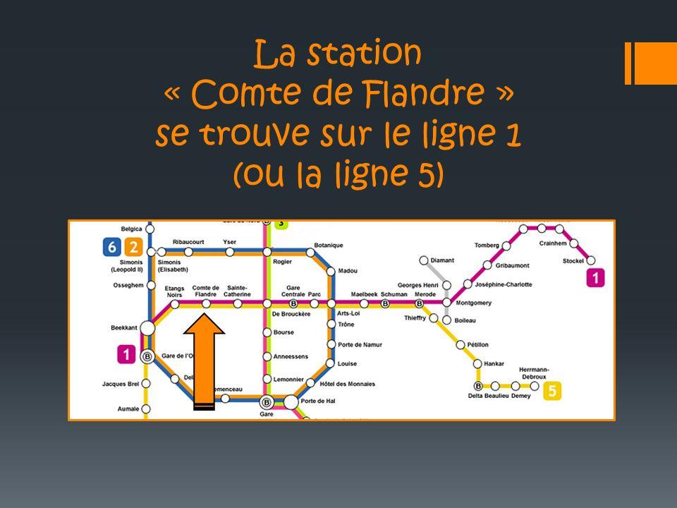 La station « Comte de Flandre » se trouve sur le ligne 1 (ou la ligne 5)