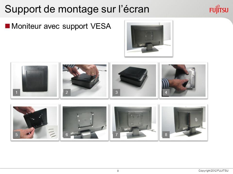 Support de montage sur l'écran