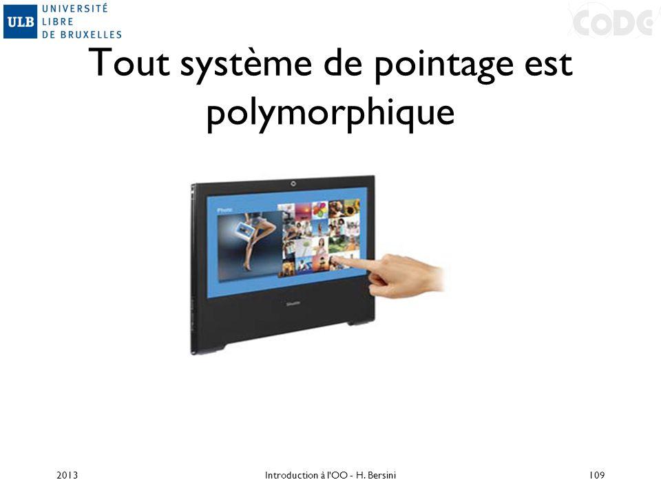 Tout système de pointage est polymorphique