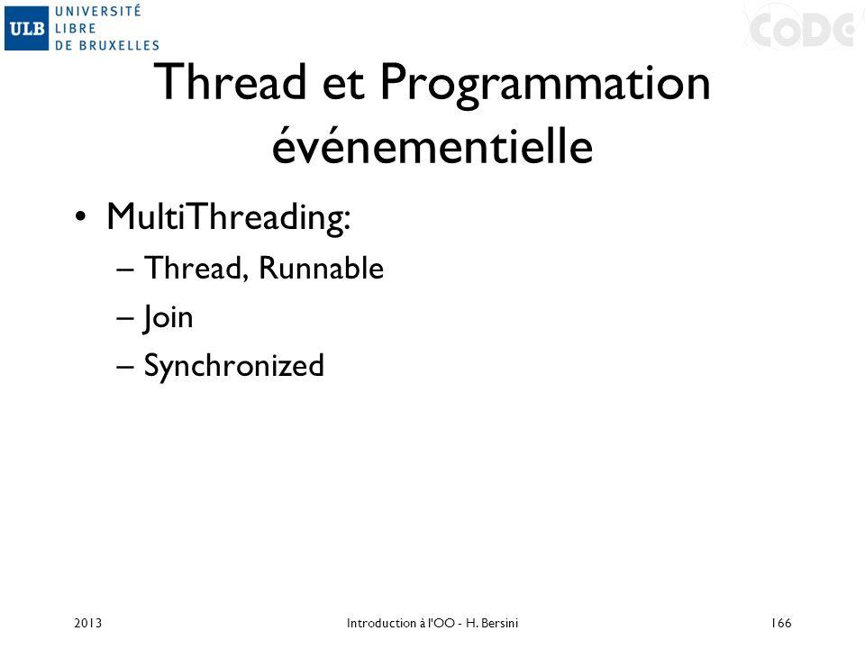 Thread et Programmation événementielle