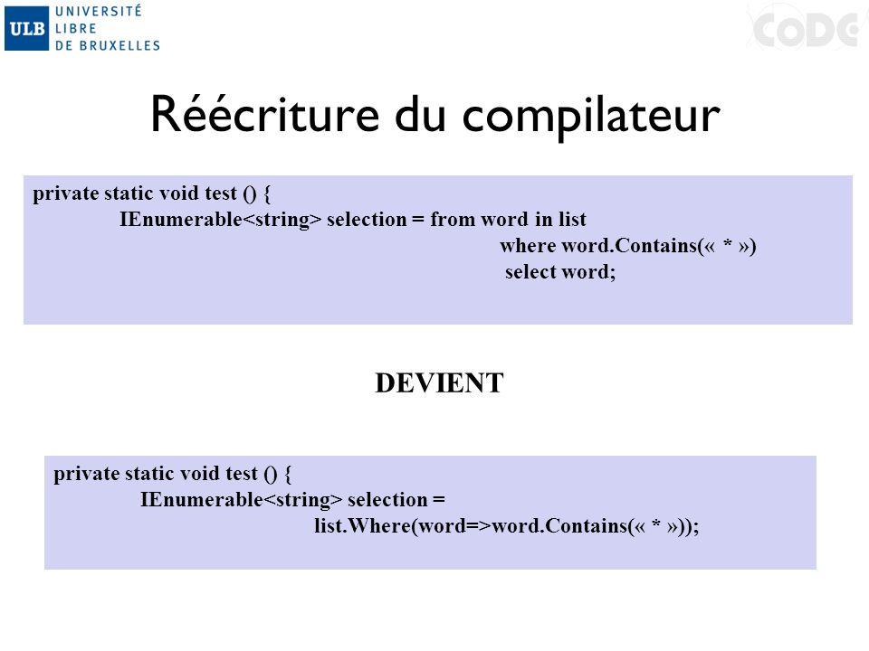 Réécriture du compilateur