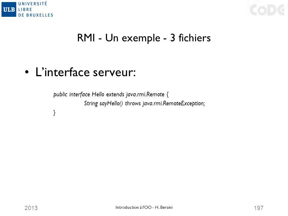 RMI - Un exemple - 3 fichiers