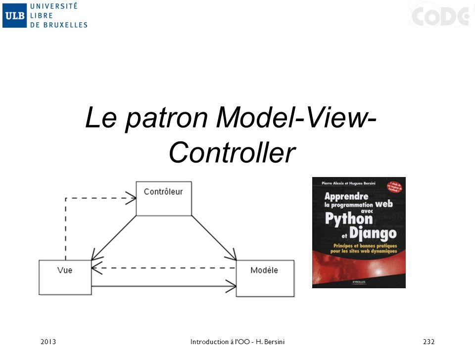 Le patron Model-View-Controller