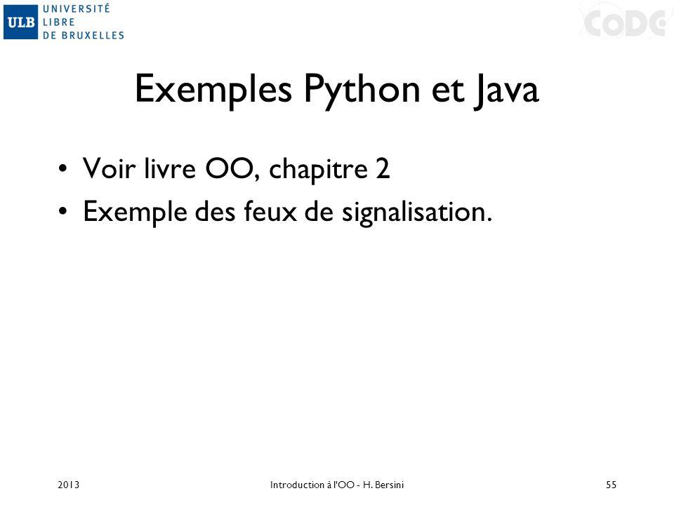 Exemples Python et Java