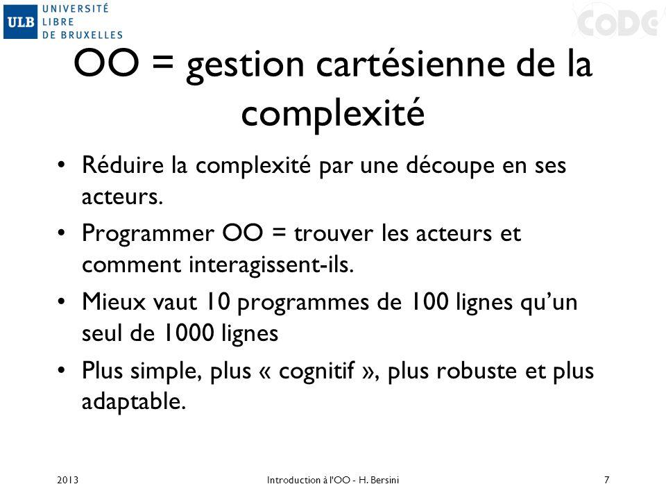 OO = gestion cartésienne de la complexité