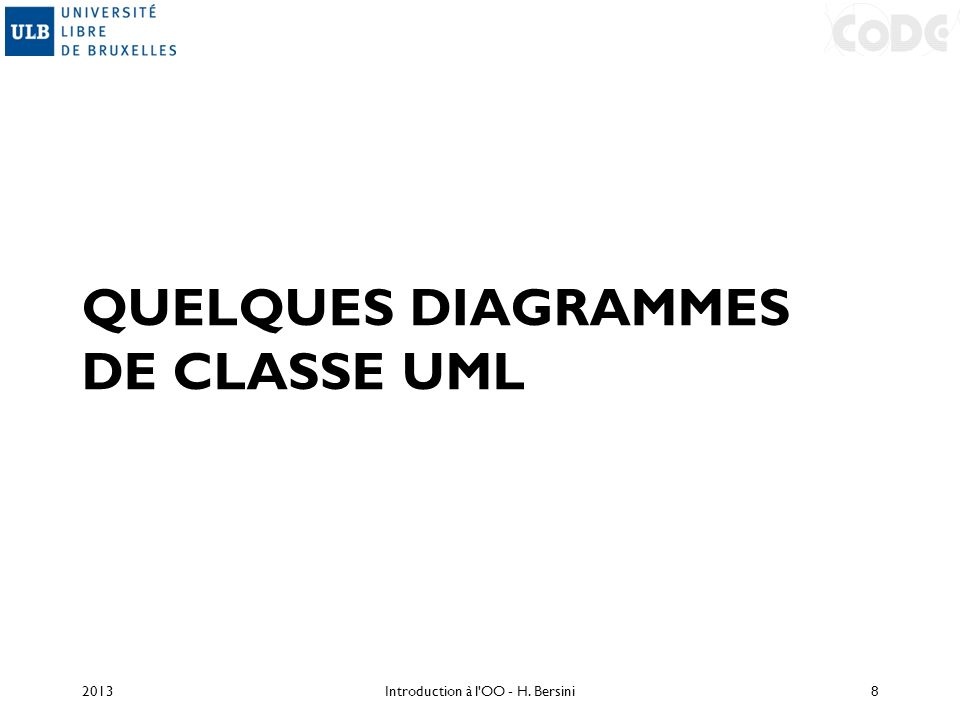 Quelques diagrammes de classe UML