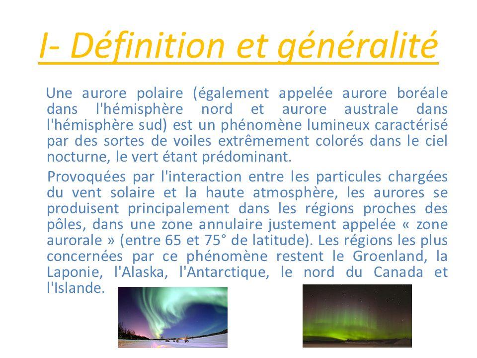 I- Définition et généralité