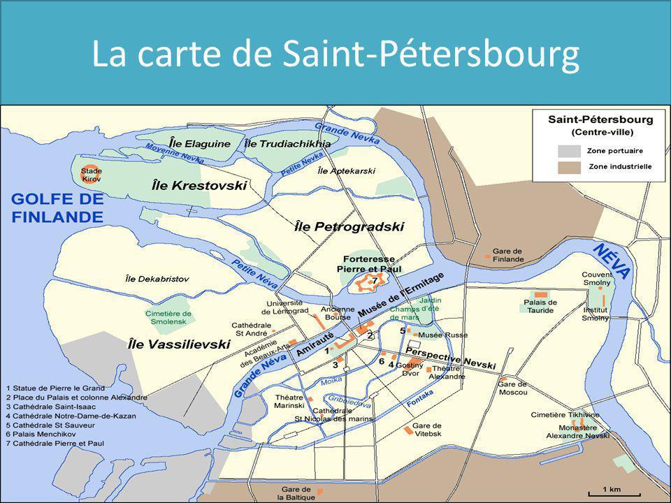 La carte de Saint-Pétersbourg