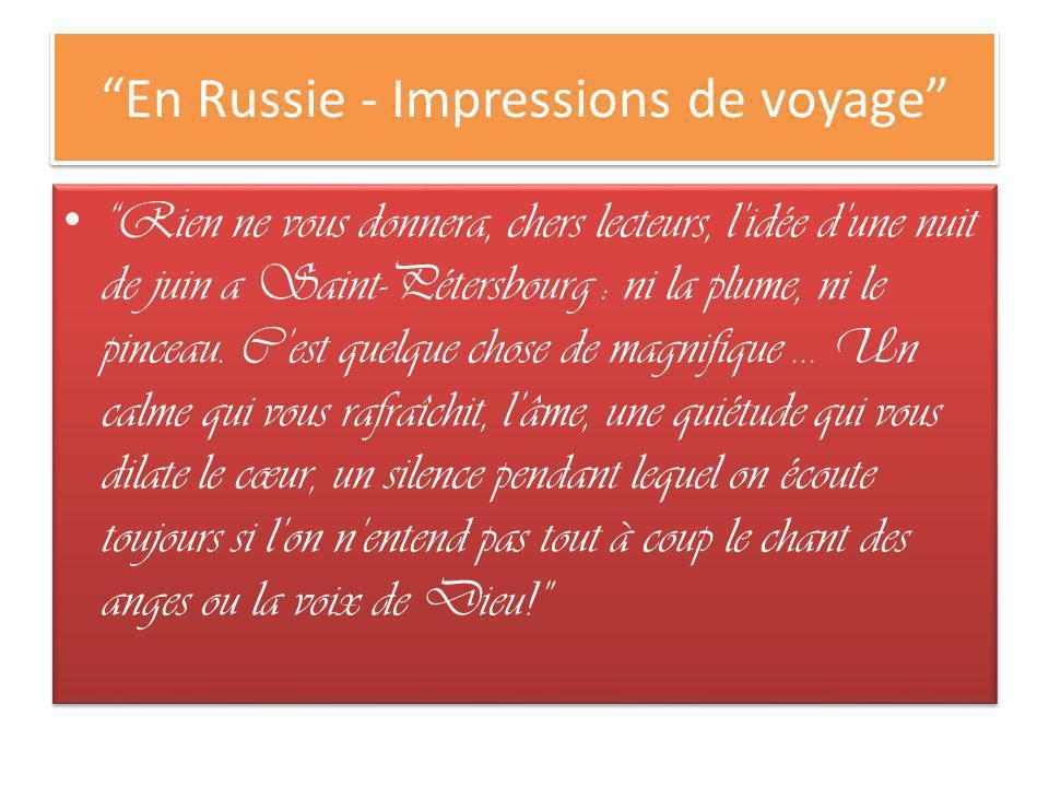 En Russie - Impressions de voyage