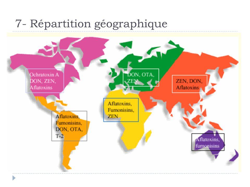 7- Répartition géographique
