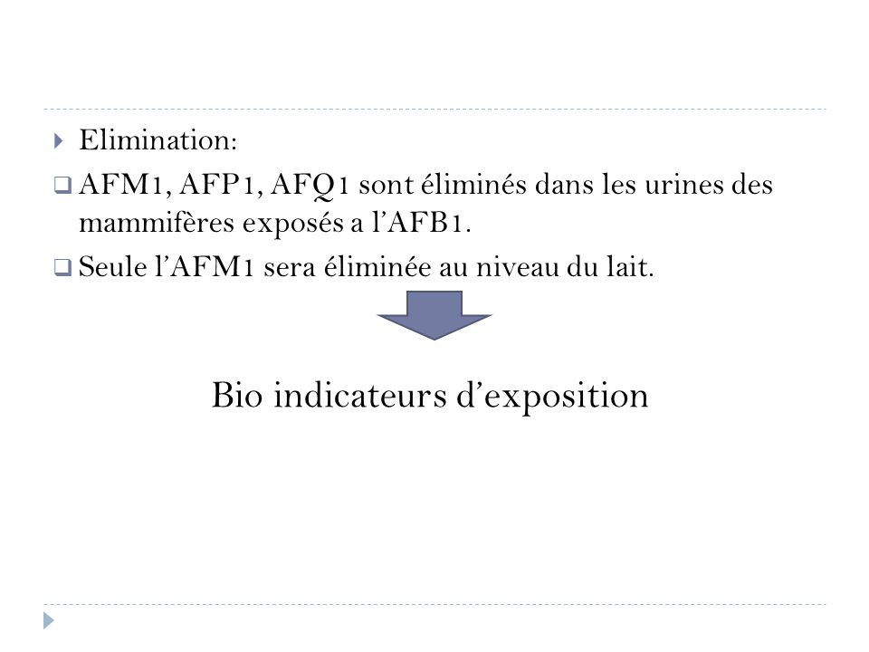 Bio indicateurs d'exposition