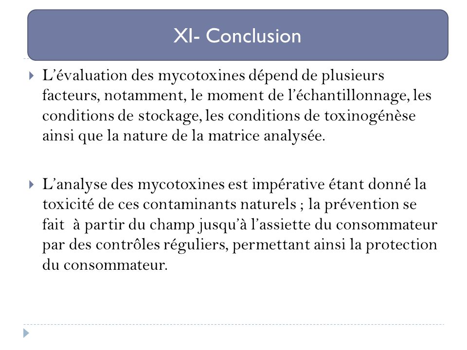 XI- Conclusion