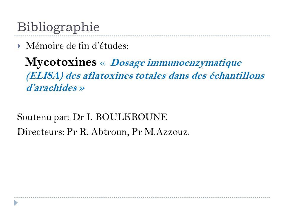 Bibliographie Mémoire de fin d'études: