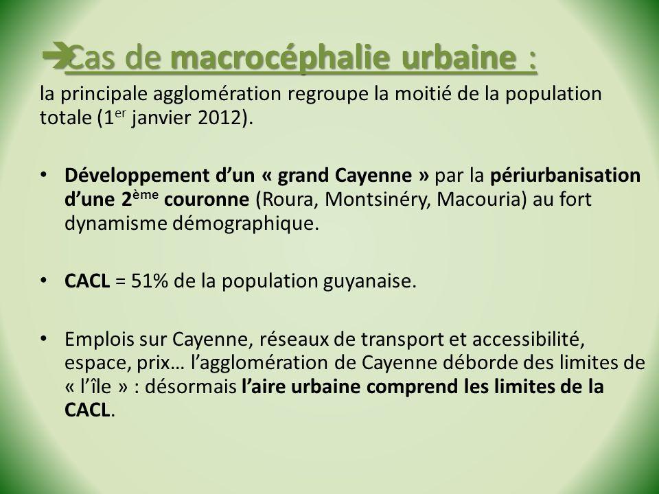Cas de macrocéphalie urbaine :