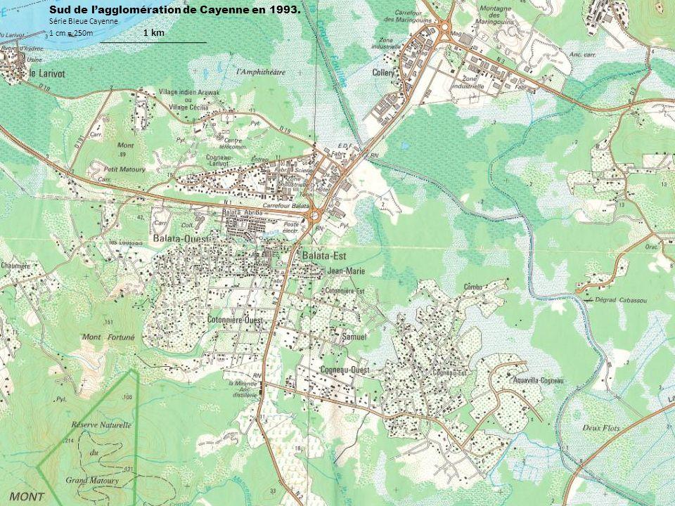 Sud de l'agglomération de Cayenne en 1993.