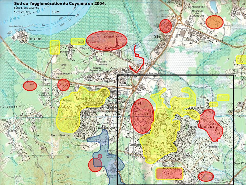 Sud de l'agglomération de Cayenne en 2004.